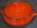 Pot with Lid, Orange