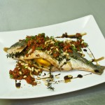 whole roasted sea bream
